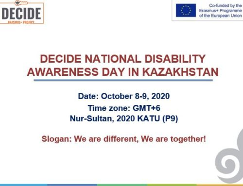 Decide National Disability Awareness Day In Kazakhstan October 8-9, 2020