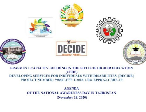 Decide National Disability Awareness Day in Tajikistan November 18th, 2020